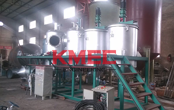 main refining pots for the 1TPD olive oil refining unit
