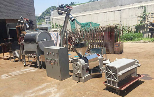 5tpd small groundnut oil extraction line with full view