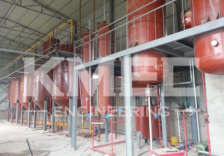 60 tpd peanut oil refining plant workshop view