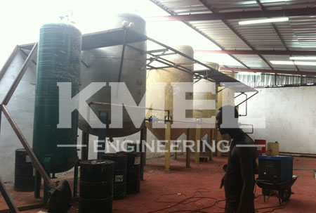 copra oil refining line installation
