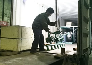 packing leaf filter into container