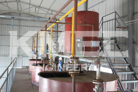 60 tpd peanut oil refining plant top view