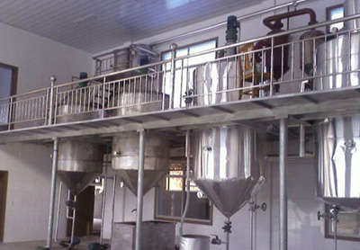 production line for edible oil from kernels-refining