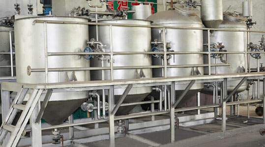 small sunflower seed oil refinement line