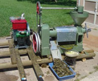 sunflower seed oil pressing machines with diesel engine