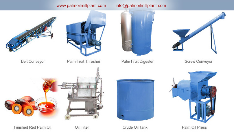 equipment for palm oil extraction mill